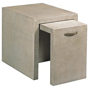 Vernon Nesting End Tables with Faux Shagreen Cover
