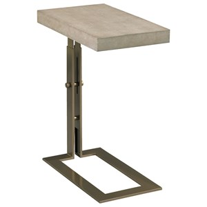 Blaine Chairside Table with Faux Shagreen Top