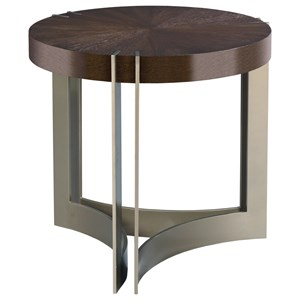 Kent Round Lamp Table with Metal Base