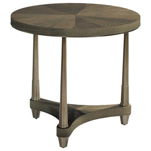 Dover Round Lamp table with Metal Base