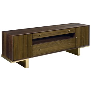 Conrad Entertainment Console with Outlet and Wire Management