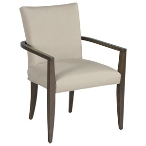 Benton Dining Arm Chair with Upholstered Seat