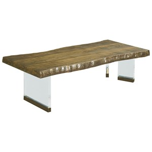 Brevard Live Edge Cocktail Table with Acrylic Base