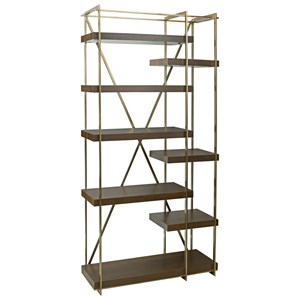 Cowley Etagere Bookcase with Eight Shelves