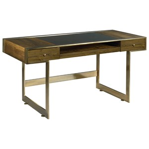 Risden Desk with Bronze Glass Top Insert