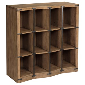 Industrial Bunching Bookcase with Metal Accents