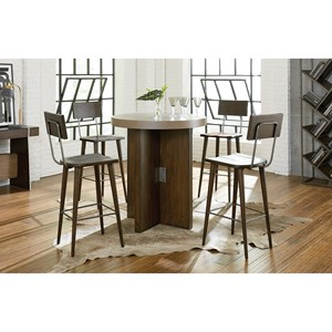Industrial Pub Table and Chair Set