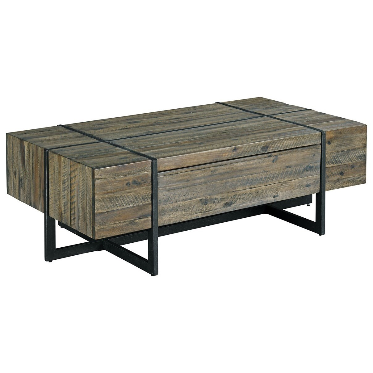Modern Timber Rectangular Cocktail Table by Hammary at Alison Craig Home Furnishings