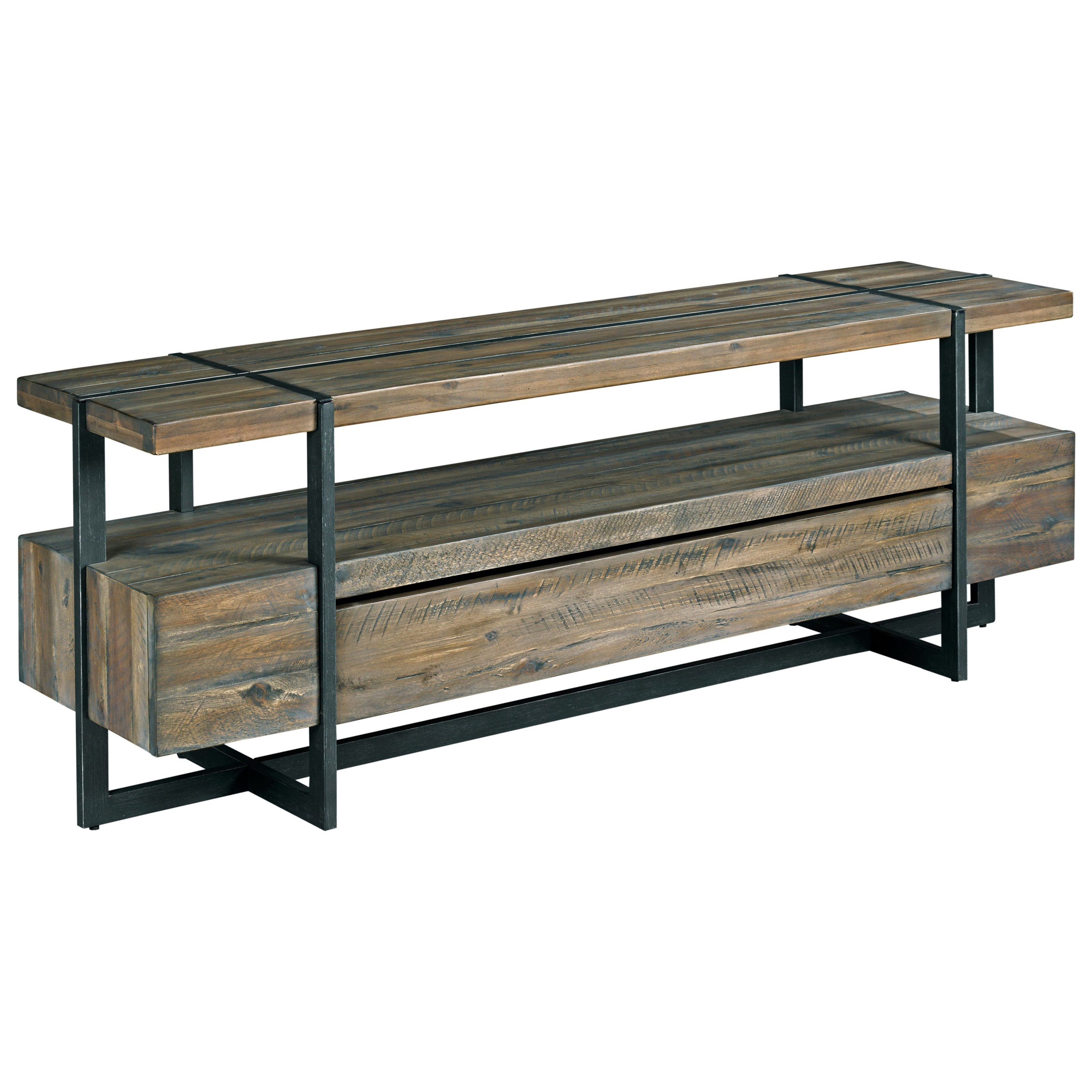 Modern Timber Entertainment Console by Hammary at Lindy's Furniture Company