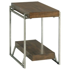 Industrial Chairside Table with Shelf