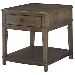 Contemporary Rectangular End Table with Drawer