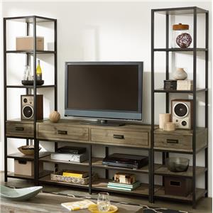 Entertainment Unit with Bookcase Piers