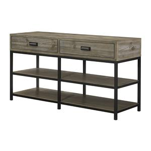 Entertainment Console with Shelves and Drawer Storage