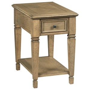 Transitional Chairside Table with Storage