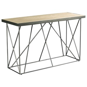 Contemporary Sofa Table with Geometric Base