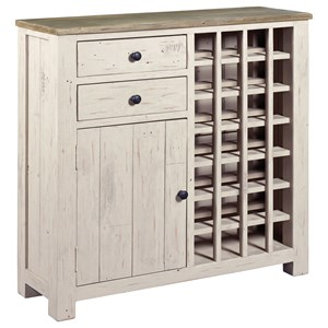 Farmhouse Wine Server with Door