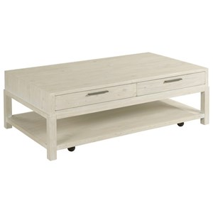 Farmhouse 2-Drawer Rectangular Coffee Table