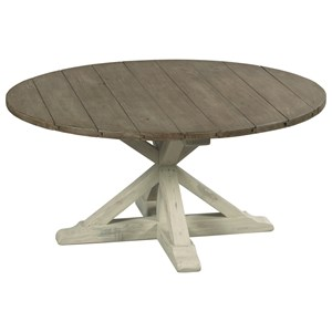 Trestle Round Cocktail Table