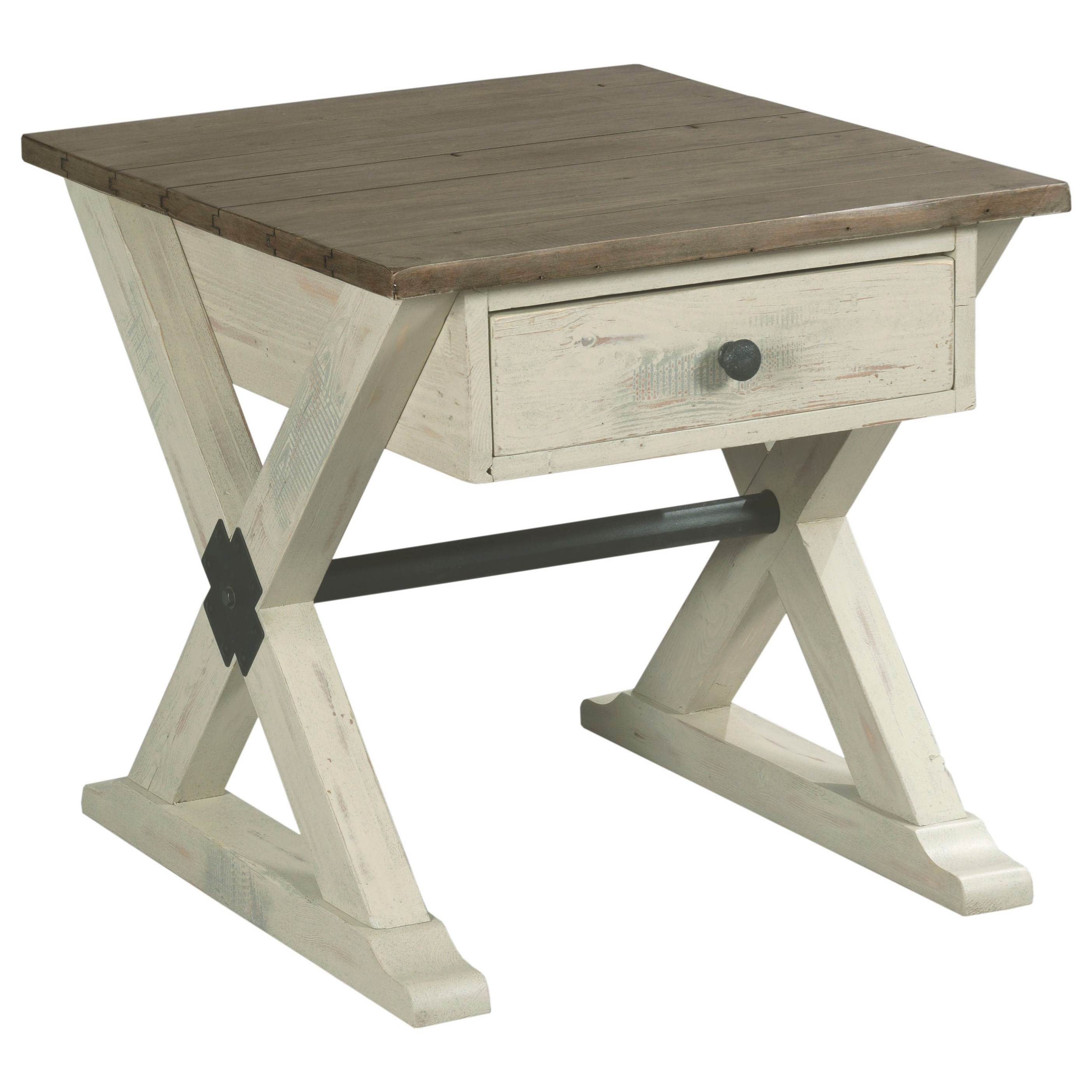 Reclamation Place                                  End Table by Hammary at HomeWorld Furniture