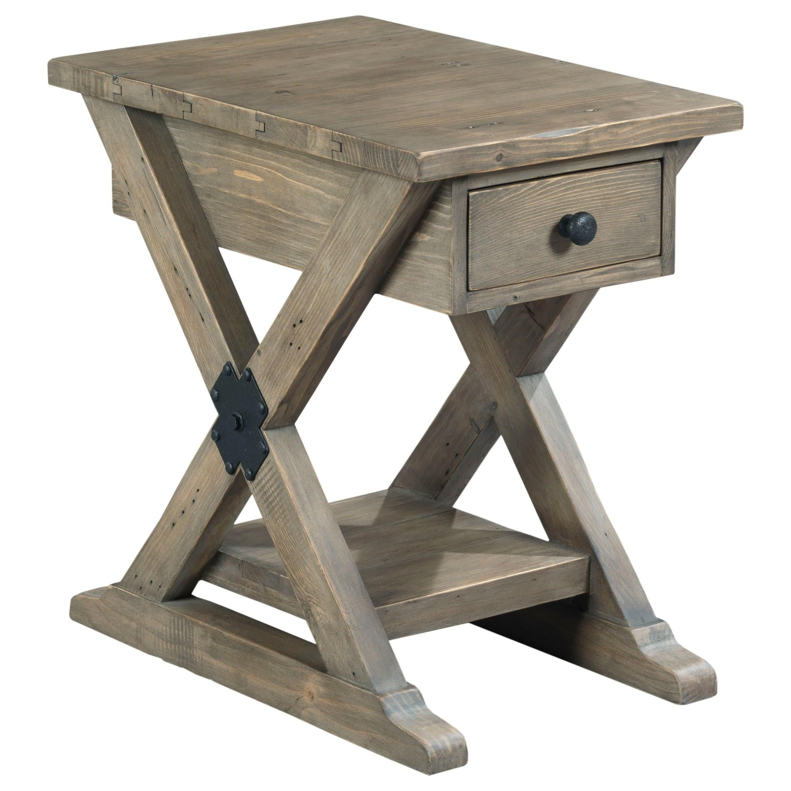 Reclamation Place Chairside Table by Hammary at Zak's Home