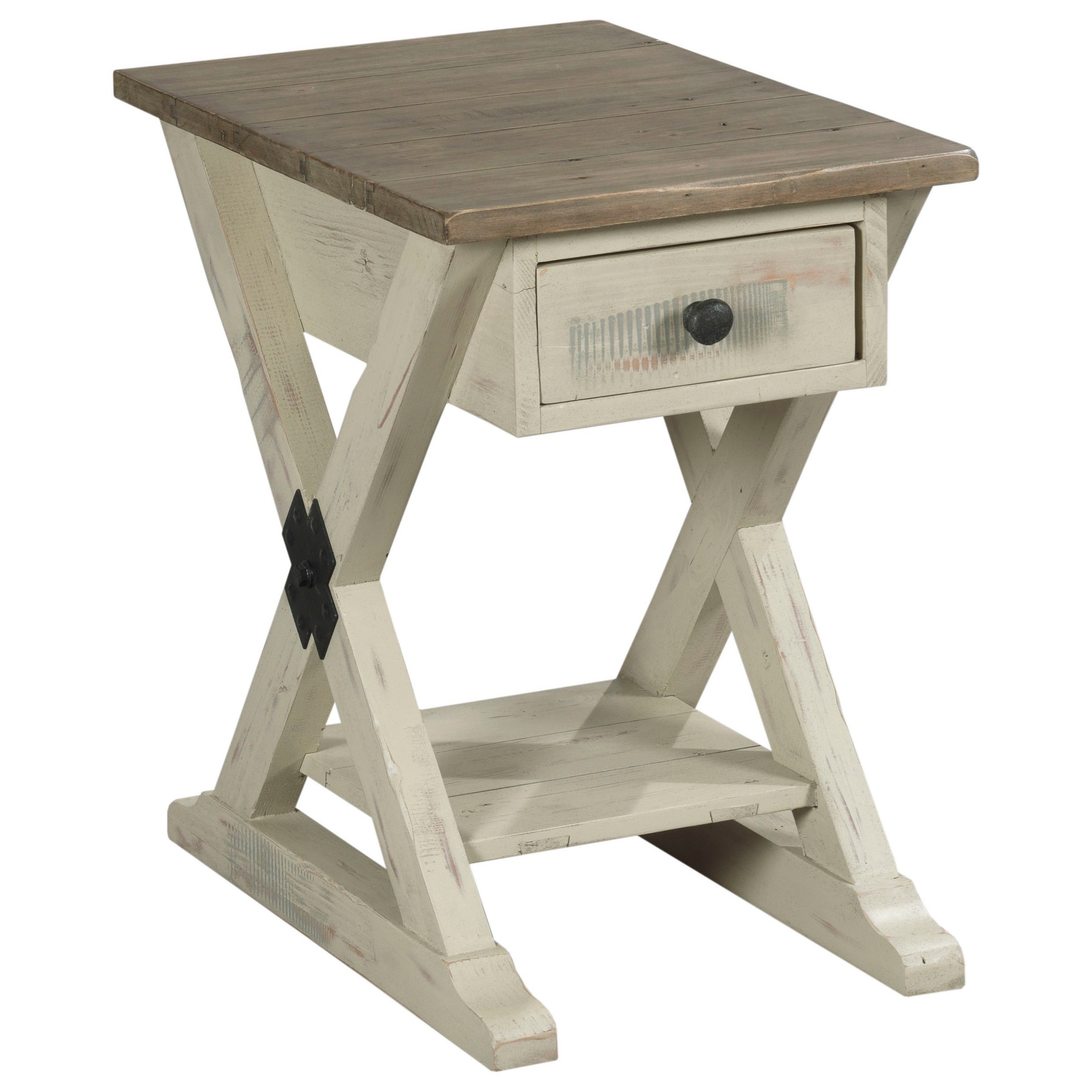 Reclamation Place                                  Chairside Table by Hammary at Alison Craig Home Furnishings