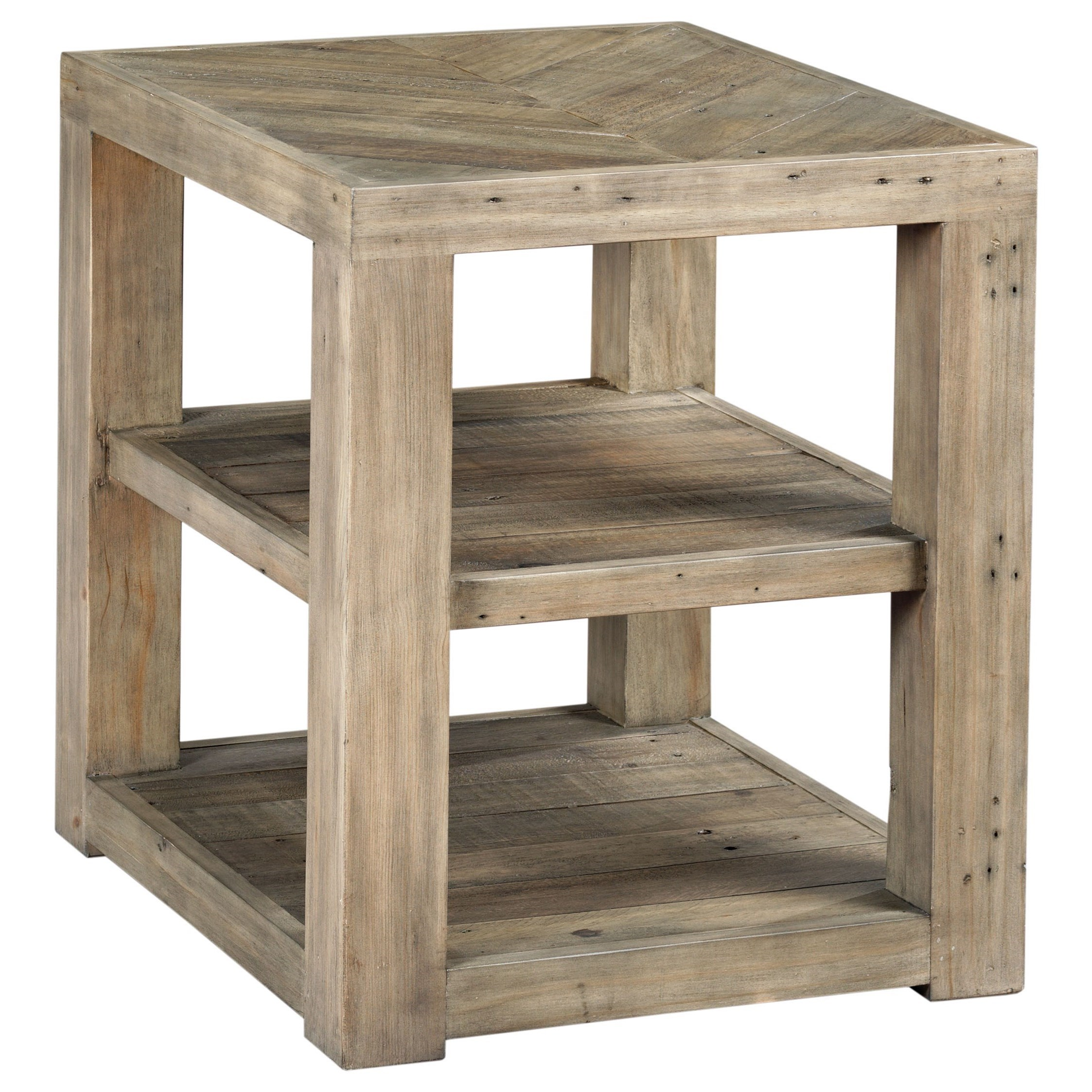 Reclamation Place End Table by Hammary at Red Knot