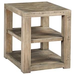 Farmhouse Shelf End Table