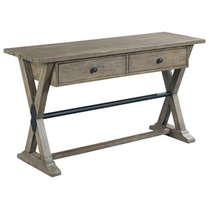 Farmhouse Style Trestle Sofa Table