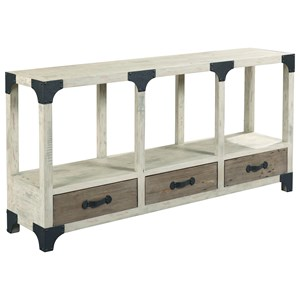 Industrial Farmhouse Console Table with 3 Drawers
