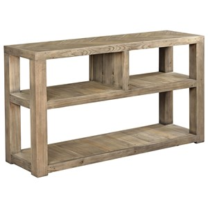 Farmhouse Sofa Table with Three Shelves