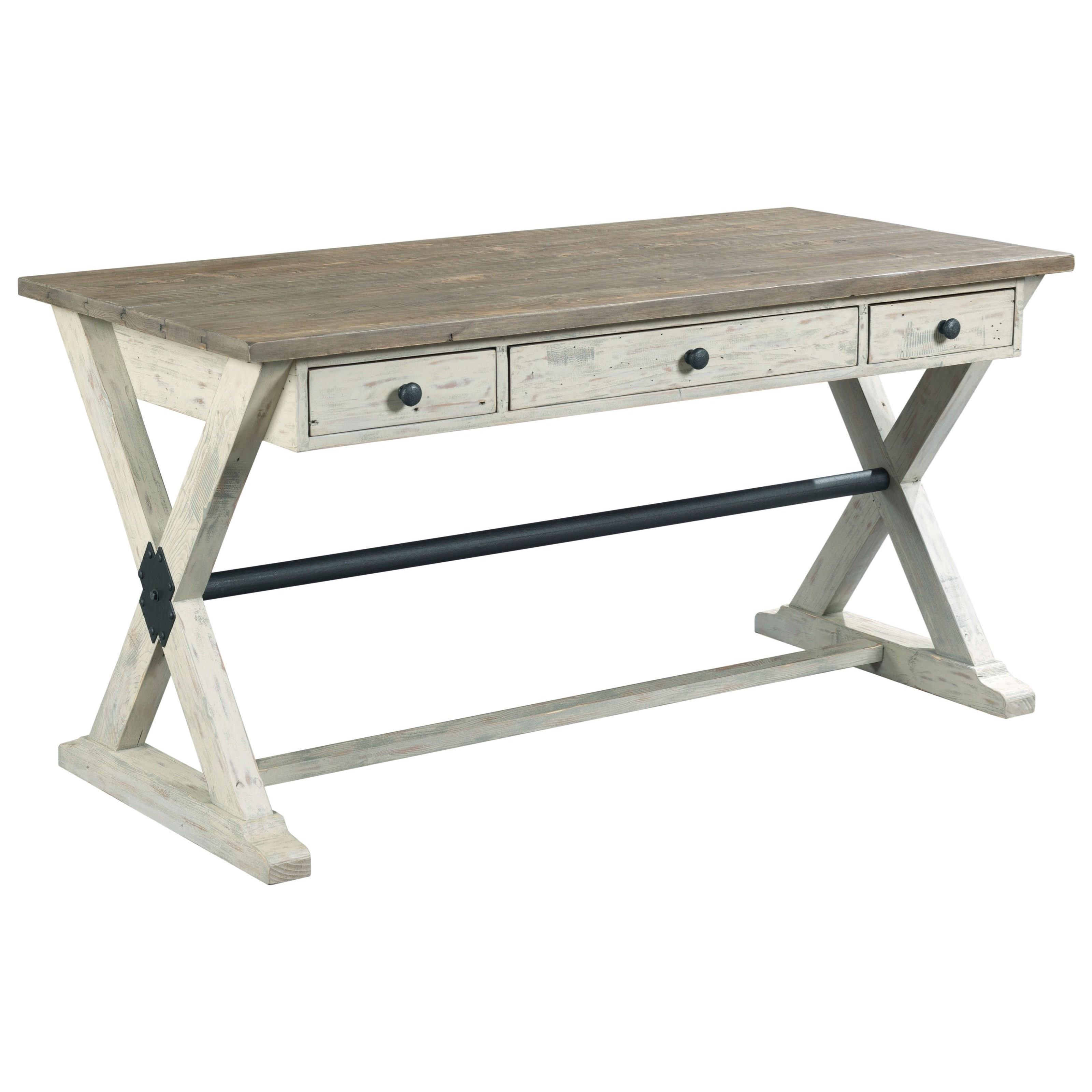Reclamation Place                                  Trestle Desk by Hammary at HomeWorld Furniture