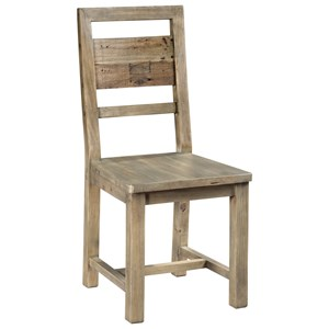 Farmhouse Desk Chair with Plank Back