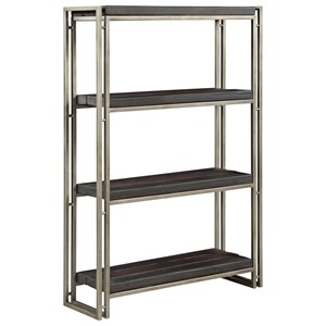 Contemporary Bookcase with 3 Charred Pine Shelves