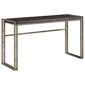 Contemporary Sofa Table with Charred Pine Top