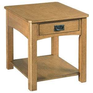 Rectangular 1 Drawer End Table