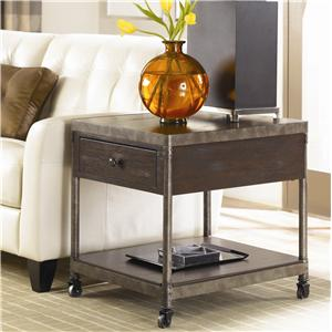 Hammary Structure Rectangular Drawer End Table