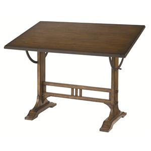 Mission Weathered Oak Architect Desk