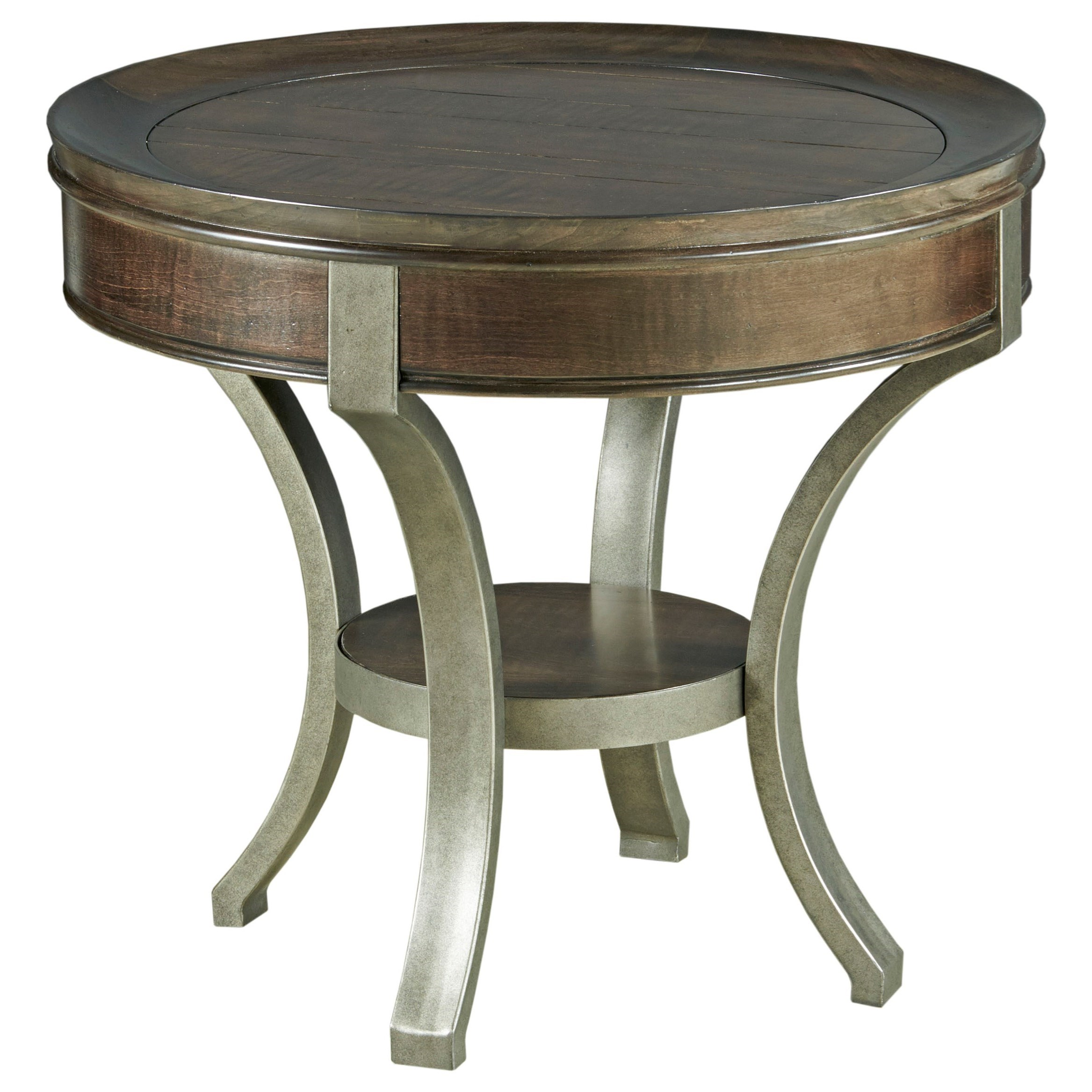 Sunset Valley Round End Table by Hammary at Johnny Janosik