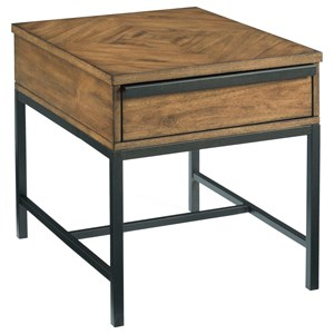 Rectangular End Table with One Drawer