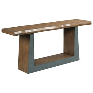 Contemporary Juxtapose Console with Live Edge