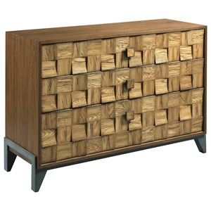 Contemporary Pattern Console with 3-Drawers