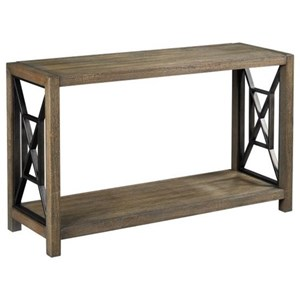 Rustic Sofa Table with Metal Accents