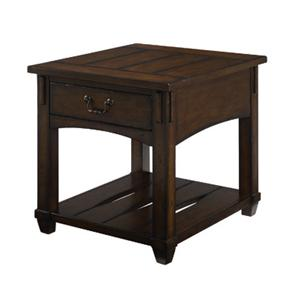 Rectangular  Mission Drawer End Table