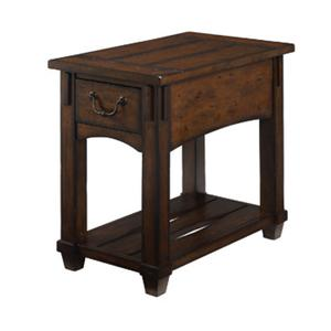 Mission Drawer Chairside Table