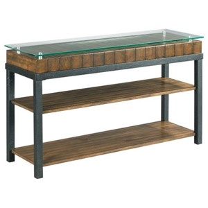 Rustic Sofa Table with Reclaimed Wood