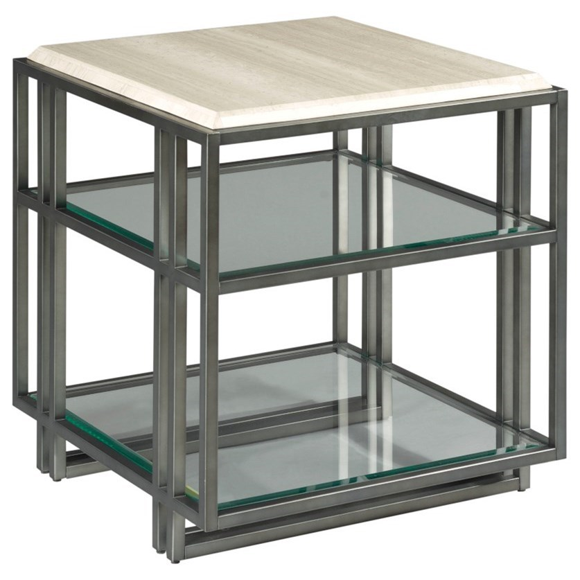 Tessa Rectangular End Table by Hammary at Darvin Furniture