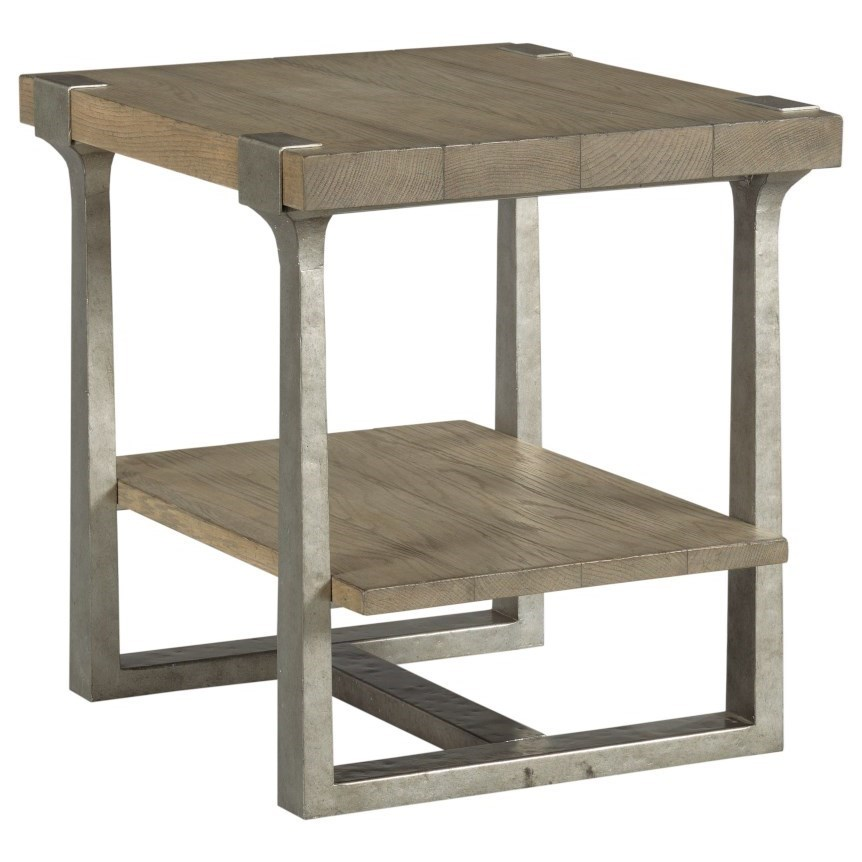 Timber Forge Rectangular End Table by Hammary at Darvin Furniture