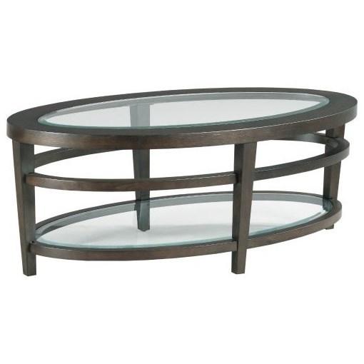 Urbana Oval Cocktail Table by Hammary at Johnny Janosik
