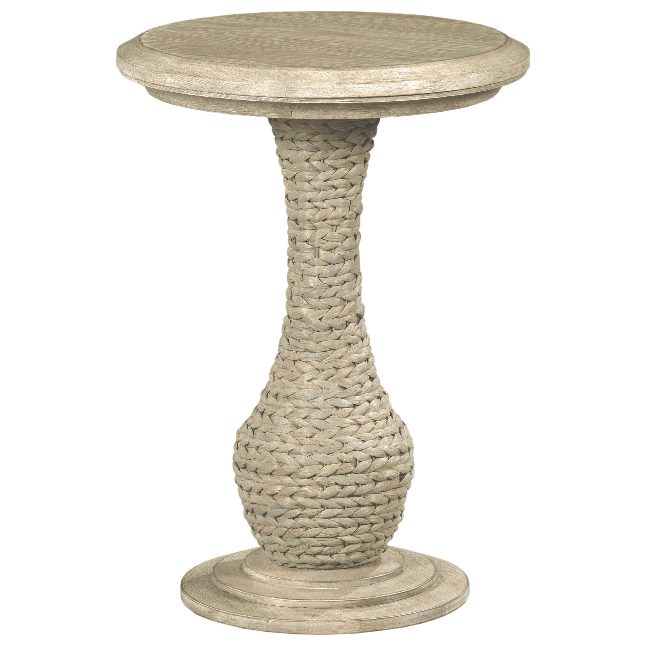 Vista Biscane Round End Table by Hammary at Jordan's Home Furnishings