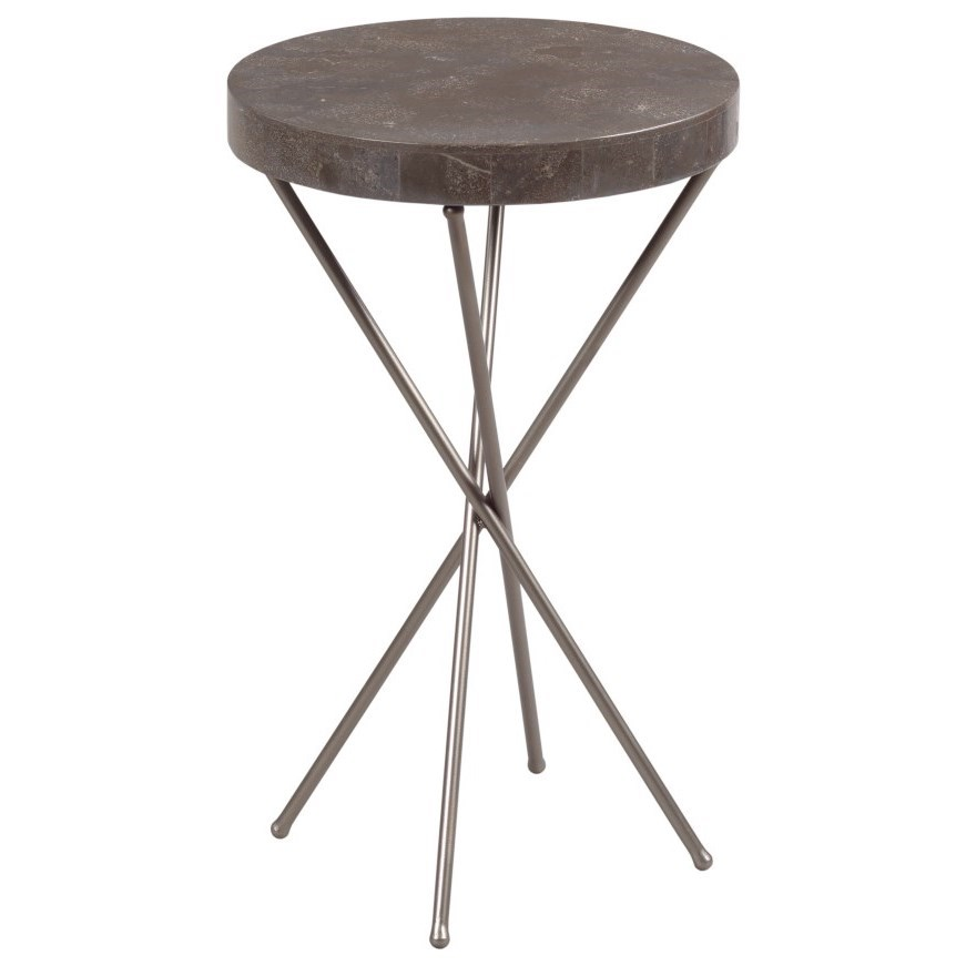West End Round Chairside Table by Hammary at Mueller Furniture